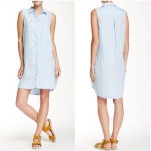 beachlunchlounge Magaly Denim Tunic Dress Sz L